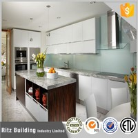 Wholesale guangzhou kitchen cabinet,simple white lacquer kitchen designs