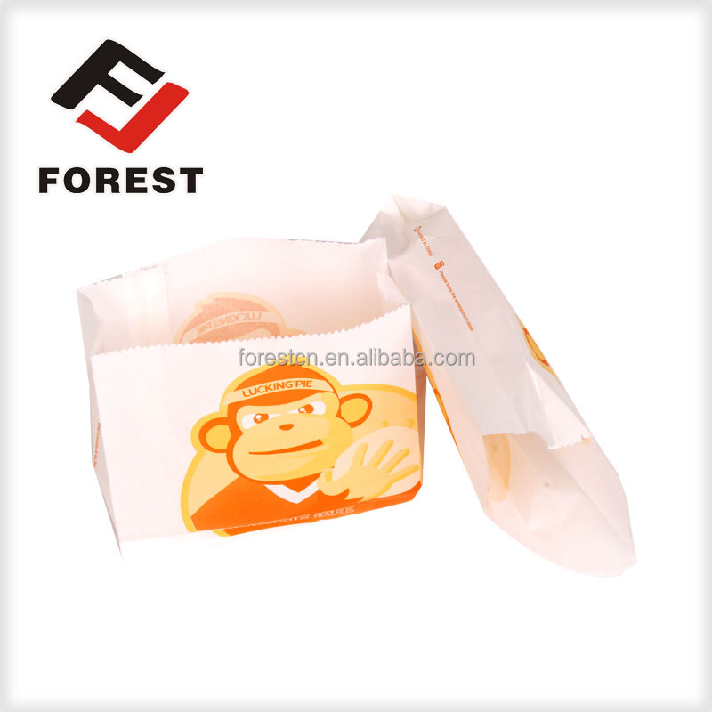 high quality fast food bag,snack packaging bag,chicken greaseproof paper bag