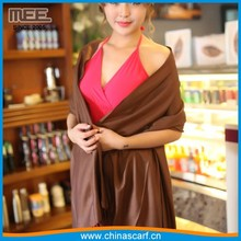 Winter Wool Cashmere Solid Color Pashmina Scarf