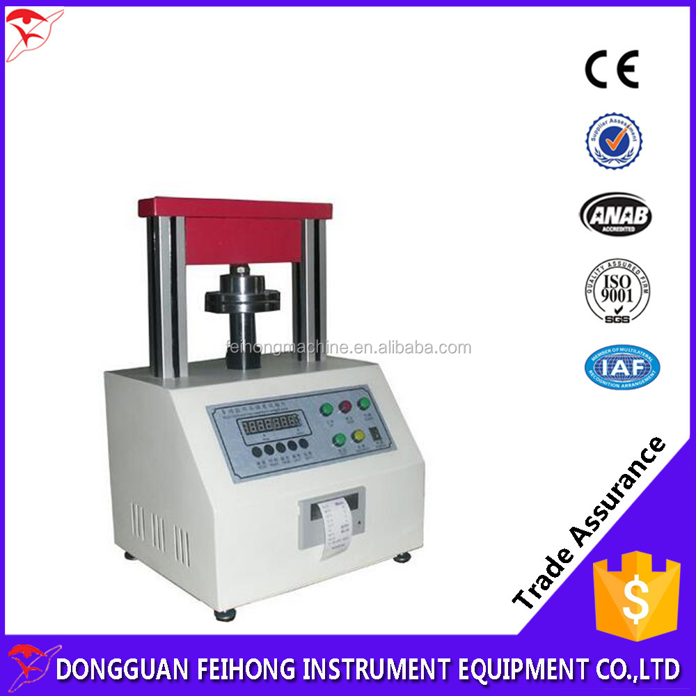 2016 New Laboratory Equipment: cardboard paper ring crushing strength test Machine