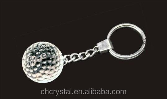 3d laser wedding favors crystal sports ball keychain MH-Y034