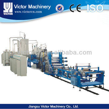 Automatic PET sheet extrusion line