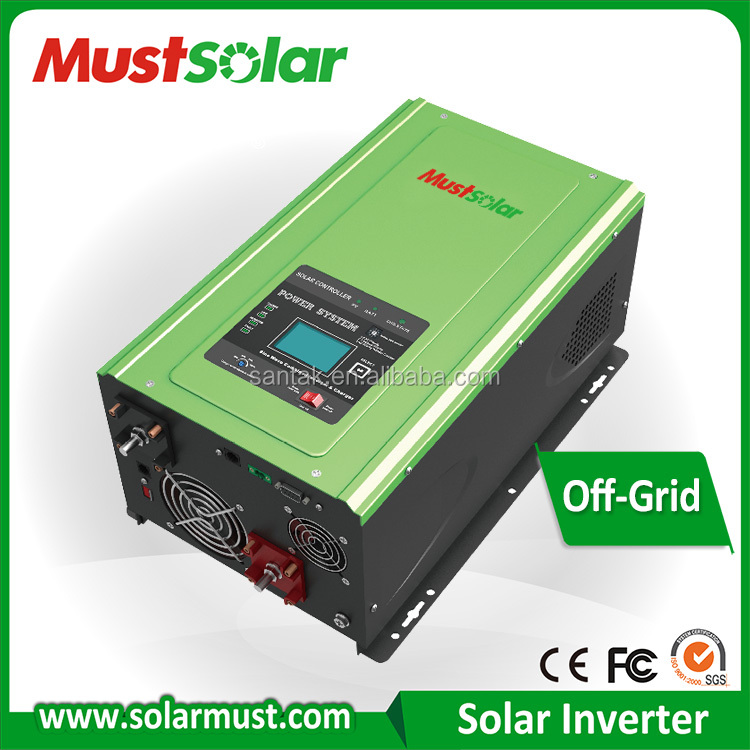 RS232 communication monitoring and Excellent design PV3000series 4-6kw inbuilt MPPT 60A hybrid solar inverter