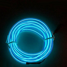 3m Blue Neon Flexible EL Wire Neon LED Strip Rope Glow Tube Light+12V controller