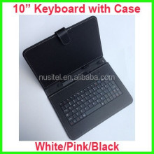 Cheap price 10 inch keyboard with case for tablet pc, keyboard with leather case for 10 inch tablet pc