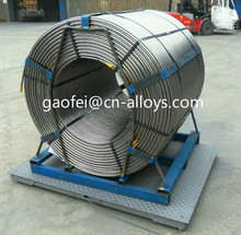 Steel industry use cored wire alloy ferro silicon magnesium fesimg cored wire