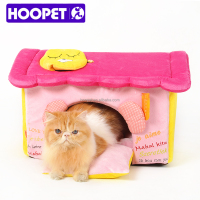 Dog beds sweet princess pink dog house flat roof dog house Supplier