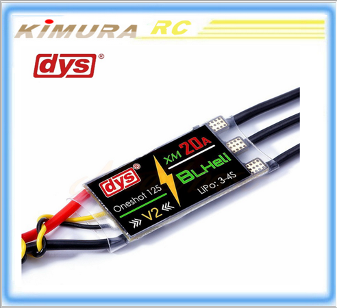 DYS Mini Speed Control XM20A BLHeli ESC Series 20A 3-4S High Frequency