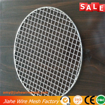 high quality stainless steel barbecue grill mesh round shape