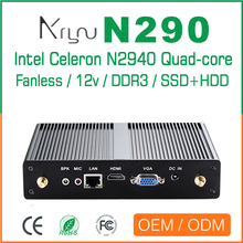 Mascte Mini Embedded PC Quad Core Celeron N2940 with 8G Memory 32G SSD fanless Windows10 computer