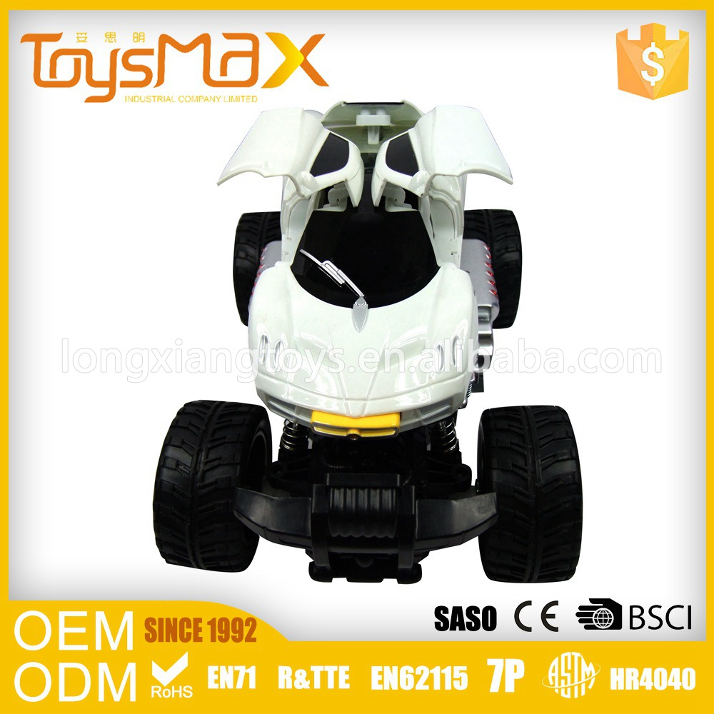 High quality 4 channel big wheels off-road remote control stunt car with one replaced shell