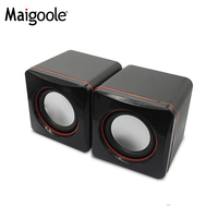 low price plastic mini usb power stereo 2.0 speakers for computer