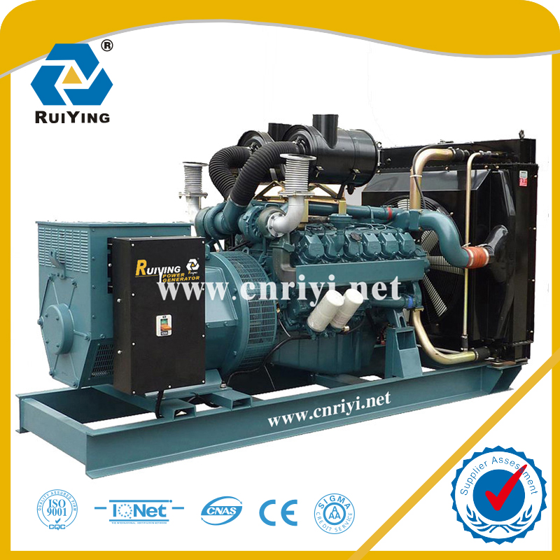 500kw 625kva medium power diesel engine generator