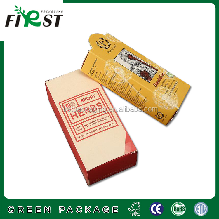 food cookie packaging box safe protective kraft paper box/customized reverse tuck end paper box/rear tuck end boxes
