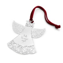 Pierced Rose angel Christmas ornaments