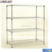 4-Tier heavy duty wire shelving Restaurant kitchen stainless steel wire shelves Adjustable and practical hos