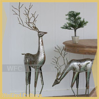 Life Size Cast Iron Deer Statue Sculpture for Christmas Home Decoration
