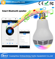 Wireless smart led light bulb bluetooth speaker with APP control CE,RoHs