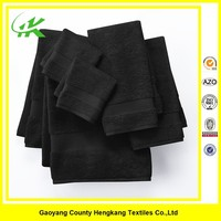 Good Quality Organic Cotton Plain Bath Towel Set In Gaoyang Factory