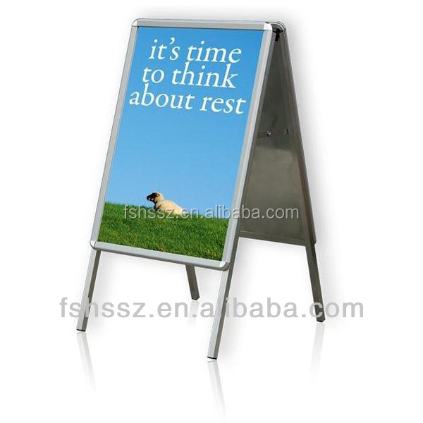 H29 A Frame Advertising Sign Aluminum Outdoor A1 Double Sides Pavement Sign