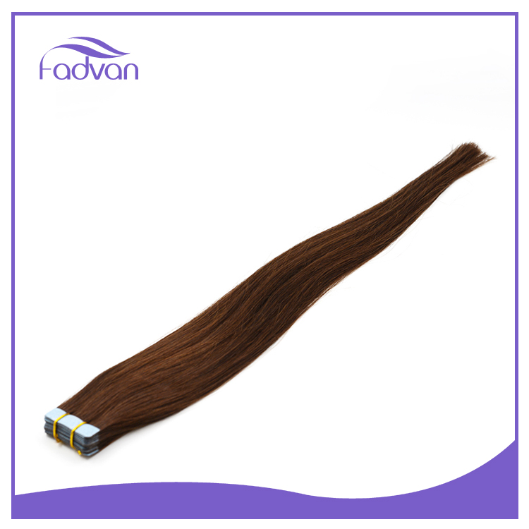 High quality dark brown russian virgin hair mini flower tape hair extensions