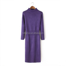 Long sleeve latest casual knitwears for winter african fashion designs dress