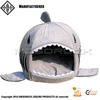 Removable Washable Dog Cat House Kennel Pad Warm Cozy Shark Mouth Pet Cushion