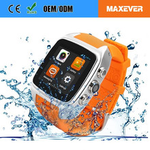 X01 2016 china Wholesale Android 4.4 BT 3G Waterproof Watch Phone Wrist Mobile Phone best selling android smart watch