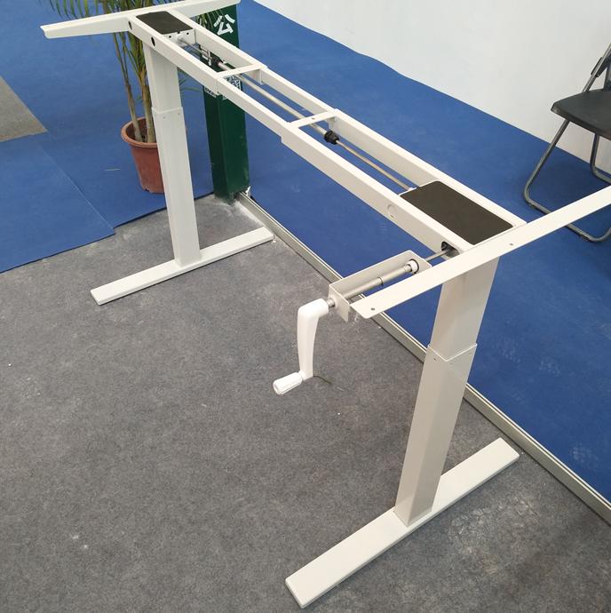 2017 Hand Crank Height Adjustable Desk For Office Furniture Buy