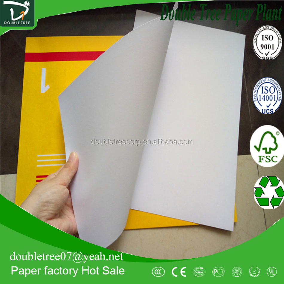 AA Grade One Side Coated Duplex Board with White/Grey Back for Offset Printing