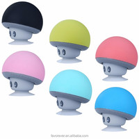Promotional colorful cheap price mini mushroom bluetooth speaker with suction cup