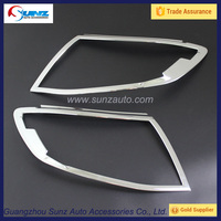 Front Light Surrounds For FORD RANGER XLT PX T6 2012 2013 2014 Pickup Head Lamp Cover Ranger Headlight Trims Accessories