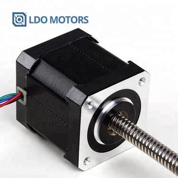 Non Captive, Step Angle 1.8Degree Nema 17 42mm Hybrid Linear Stepper Motor