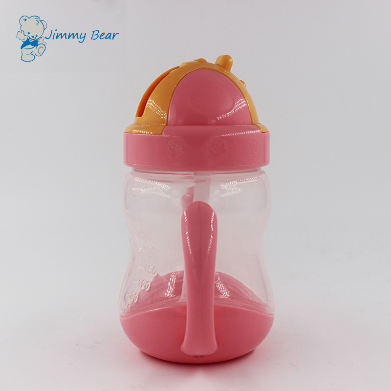 Wide mouth 280ML portable plastic baby trainer cup