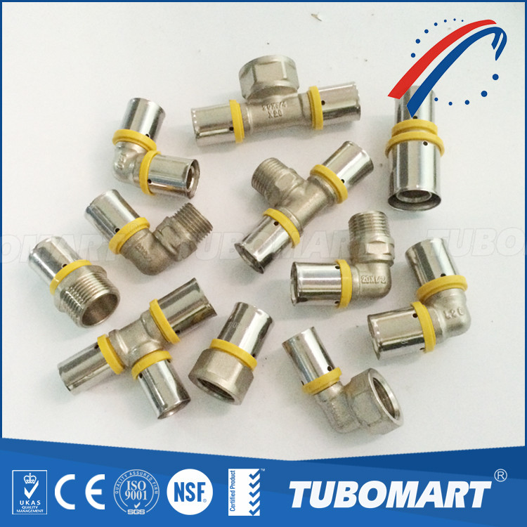 Multilayer pex pipe connector female screw fitting for