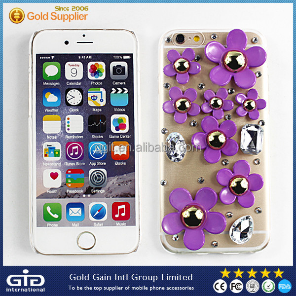 [GGIT] Luxury Crystal Soft TPU Mobile Phone Cover Case for iPhone 6 with Diamond Bling