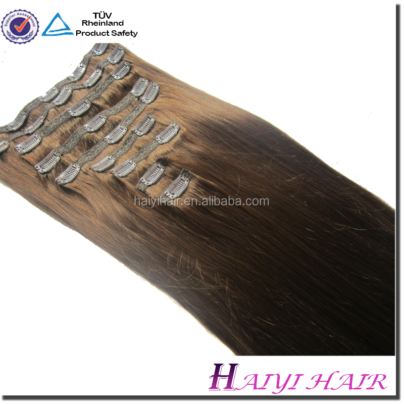 Wholesale Alibaba Remy Virgin Hair 5A plastic clip for hair extensions