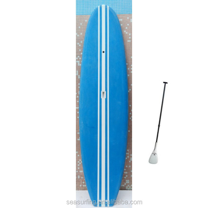 2015 mini mal surfboard solid blue with white sup surfing board