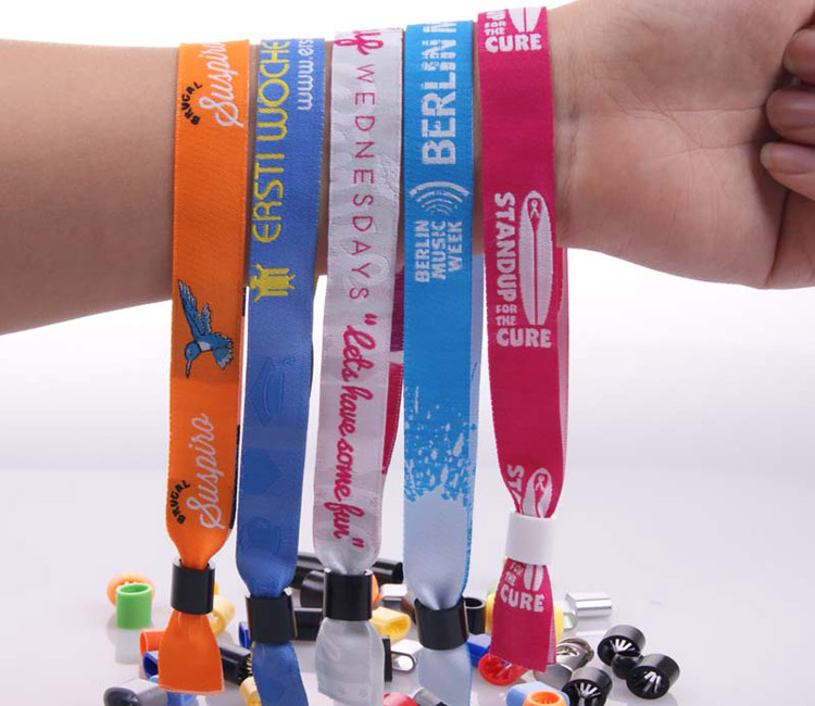 Custom woven festival No age limit cloth wristband for events,no age requirement hand strap
