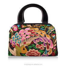 Hot selling cheap shopping bags fashion bags for girls embroidery handbag