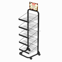 BDD-SNA32 retail shop metal food display shelf/cookies display stand/ biscuits display shelf