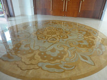 Water Jet marble medallion