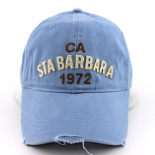 Light Blue Washed 100% Soft Cotton Baseball Cap Embossed Brass Buckle Washed Cap Dad Hat