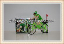 BEN10 plastic electric bicycle toy with man drive on it