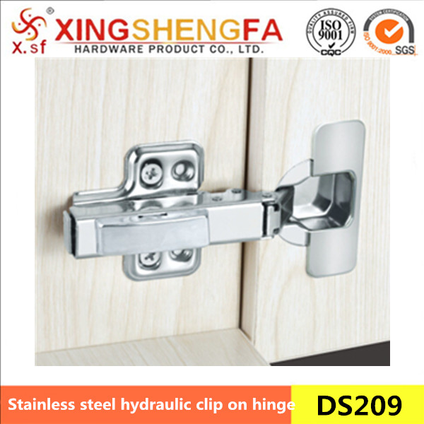 Cabinet stainless steel hydraulic clip on hinge