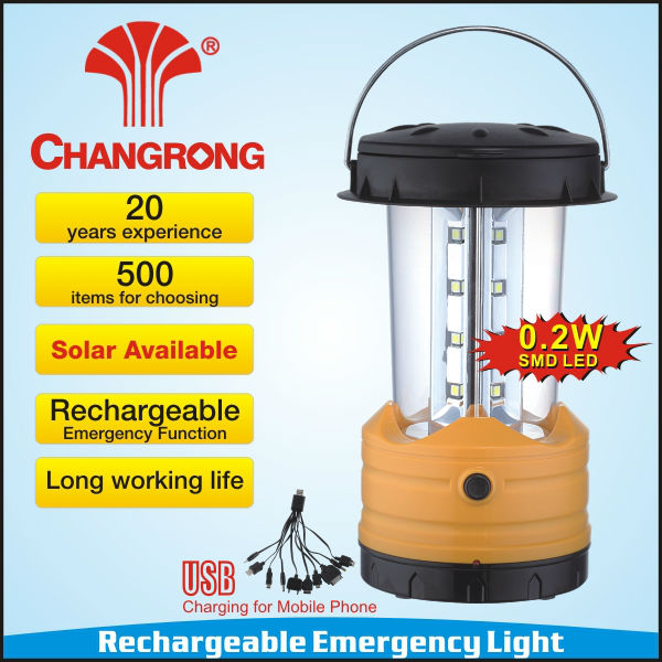 Electric appliance rechargeable camping lantern & solar charge