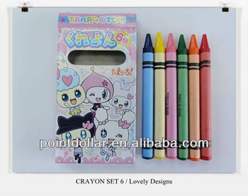 Crayon / Crayon Set 6 / Color Wax Crayons with Good Quality