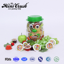 Popular kids brand snack food fruit jelly with private label
