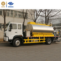 8 cbm hot asphalt distributor truck