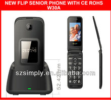 "new 2.4"" dual sim flip senior citizen mobile phone sos phone"